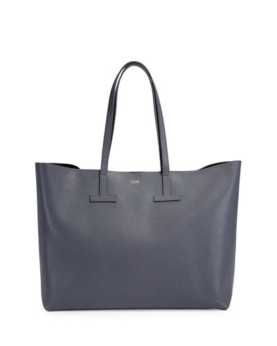 Large Grained Leather T Tote Bag
