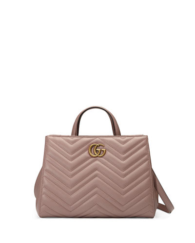 GG Marmont Small Matelassé Top-Handle Bag