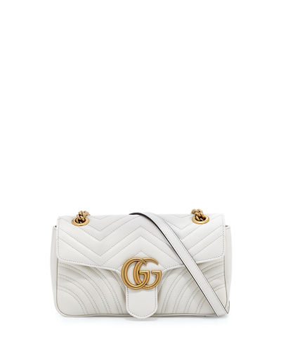 GG Marmont Small Matelassé Shoulder Bag, Black
