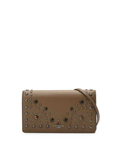 Coach Western-Rivets Fold-Over Crossbody Bag