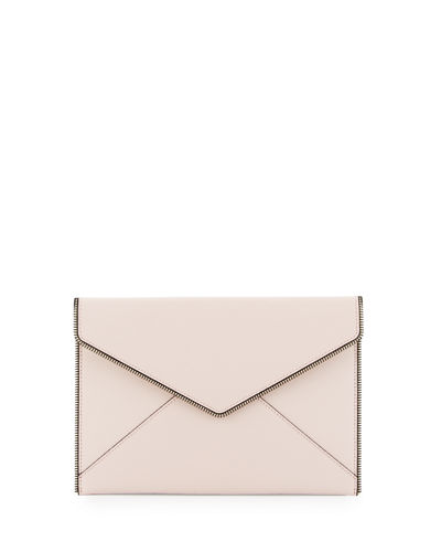 Leo Saffiano Envelope Clutch Bag