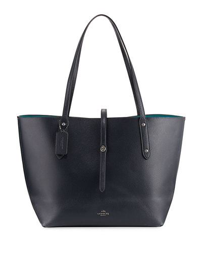 Market Pebbled Leather Tote Bag