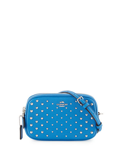 Studded Oval Crossbody Clutch Bag