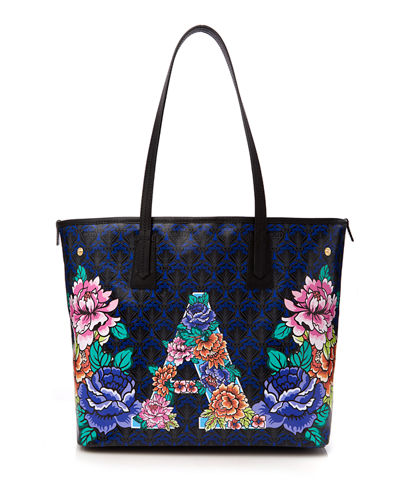 Liberty London Alphabet Iphis-Print Tote Bag