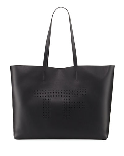 Perforated Logo Tote Bag, White