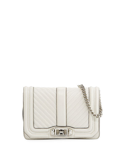 Love Small Chevron Quilted Crossbody Bag