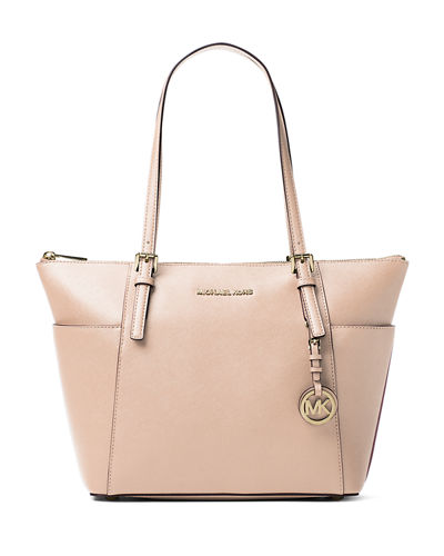 Jet Set Top-Zip Saffiano Tote Bag