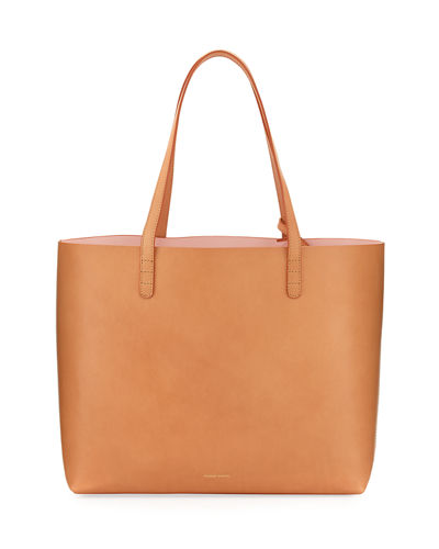 Large Vegetable-Tanned Leather Tote Bag