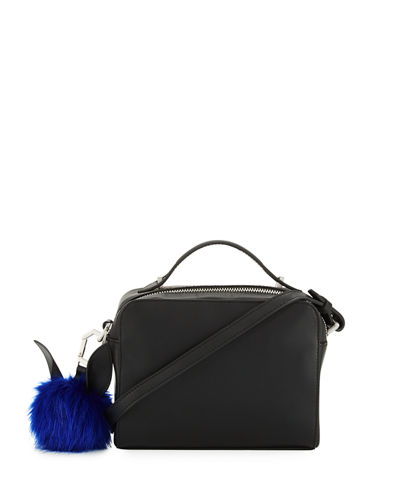 Lucy Pompom Camera Crossbody Bag