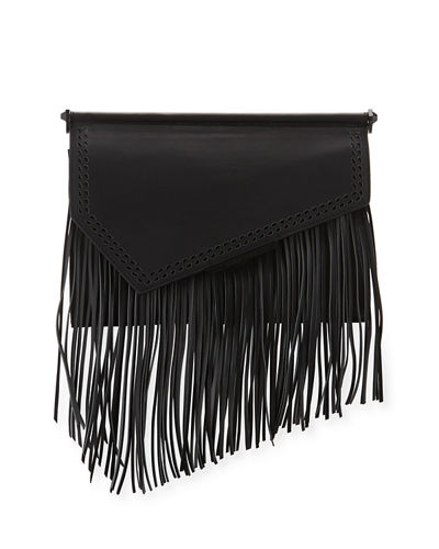 Kendall + Kylie Ginza Fringe Leather Clutch Bag