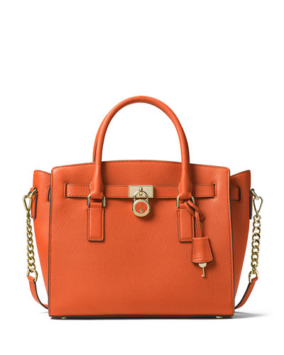 Hamilton Large East-West Leather Satchel Bag