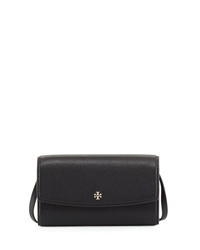 Robinson Pebbled Leather Wallet on Crossbody Strap