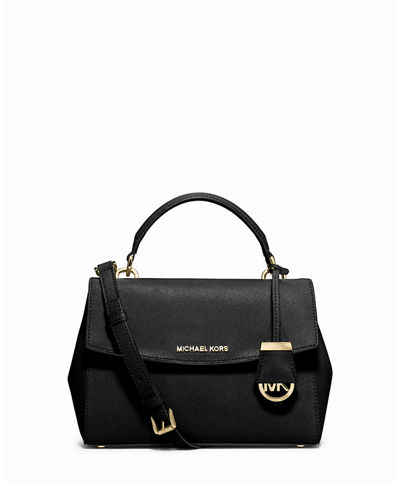 Ava Small Saffiano Leather Satchel Bag