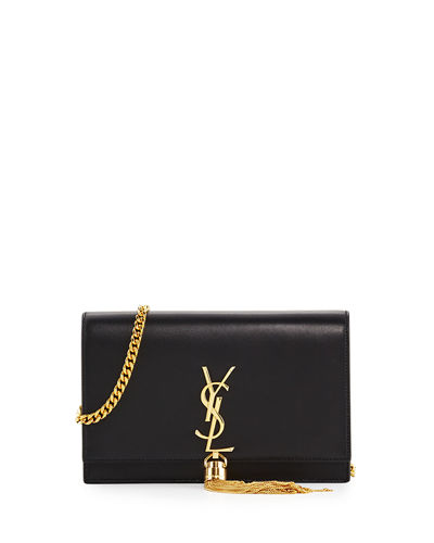 Saint Laurent Kate Monogram Tassel Chain Wallet