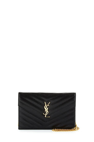 Saint Laurent Grain de Poudre Envelope Wallet on Chain