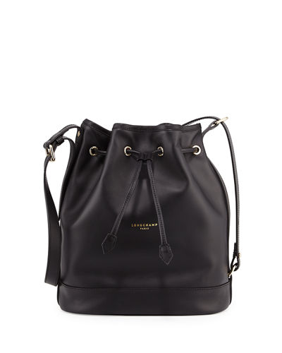Longchamp 2.0 Large Leather Bucket Bag