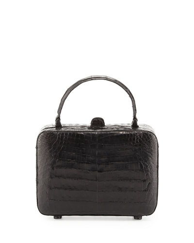 Crocodile Top-Handle Box Bag