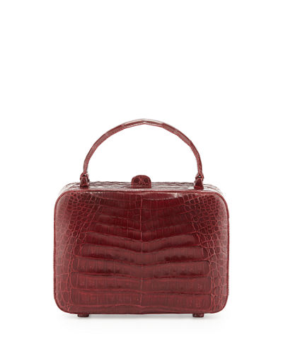 Crocodile Box Crossbody Bag