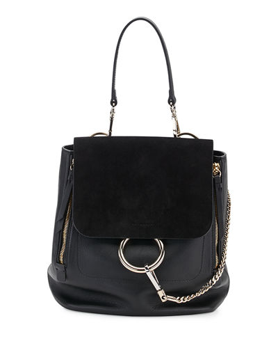 Chloe Faye Medium Suede & Leather Backpack