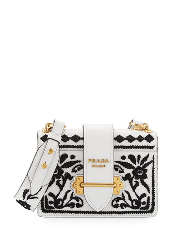 Cahier Embroidered Shoulder Bag