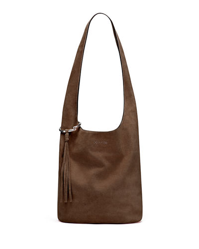 Finley Courier Suede Hobo Bag
