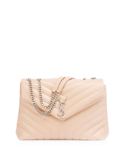 Loulou Monogram Matelassé Medium Envelope Satchel Bag
