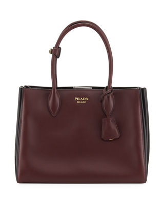 Prada Medium Soft Bibliothèque Double-Handle Large Accordion Tote Bag