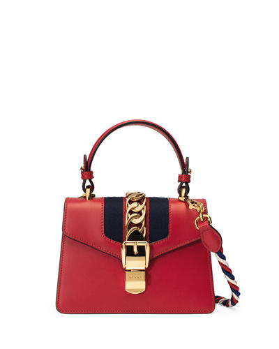 Sylvie Mini Leather Satchel Bag
