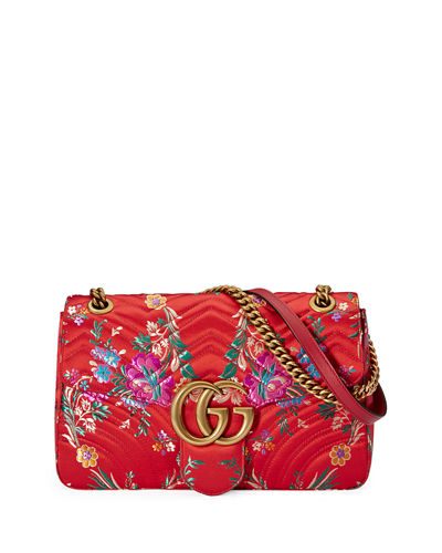 GG Marmont Medium Jacquard Shoulder Bag
