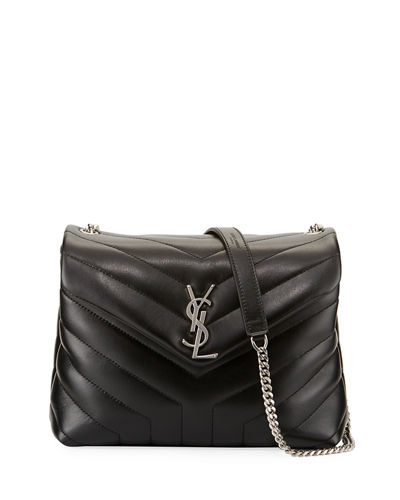 Saint Laurent Loulou Monogram Small Y-Quilted Chain Shoulder
