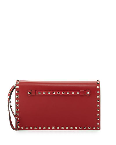 Rockstud Flap Wristlet Clutch Bag