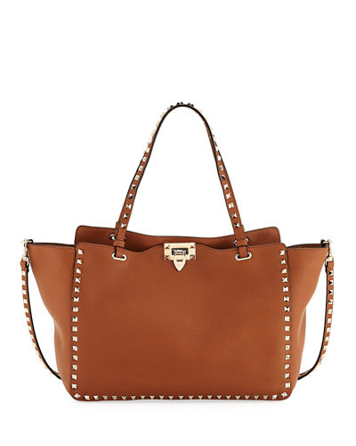 Rockstud Medium Pebbled Tote Bag