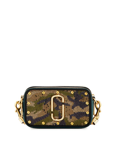 Marc Jacobs Snapshot Sequined-Camouflage Camera Bag