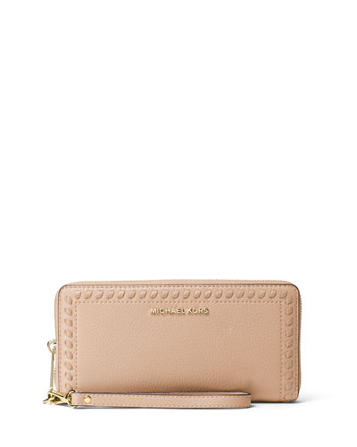 MICHAEL Michael Kors Lauryn Whipstitch Continental Wristlet