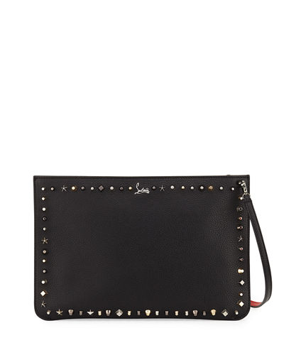 Christian Louboutin Loubiclutch Empirespikes Mixed-Spike Clutch Bag