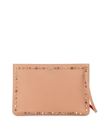 Loubiclutch Empirespikes Mixed-Spike Clutch Bag
