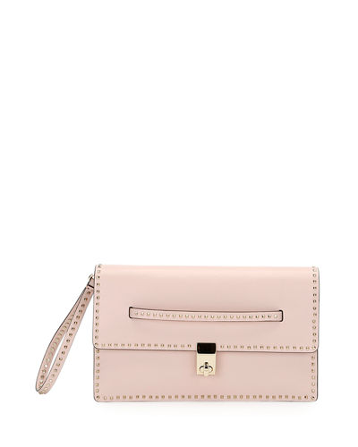Valentino Rockstud Flap Clutch Bag