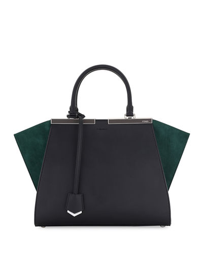 Fendi 3Jours Mini Two-Tone Suede/Leather Tote Bag