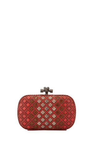 Bottega Veneta Small Knot Satin Clutch