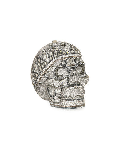 Katerina Crystal Skull Clutch Bag