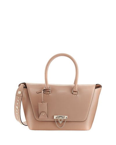 Demilune Small Rockstud Satchel Bag