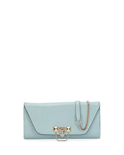 Valentino Garavani Demilune Leather Chain Clutch Bag