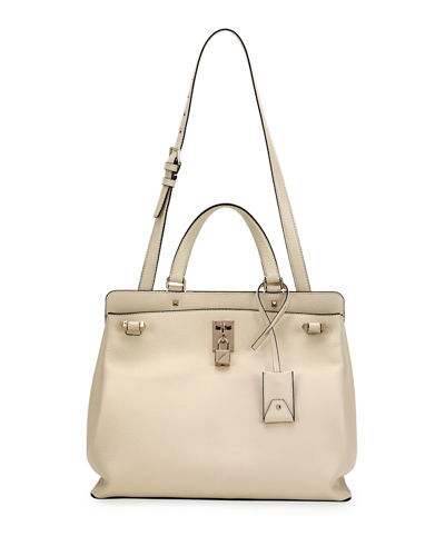 Joy Lock Medium Leather Satchel Bag
