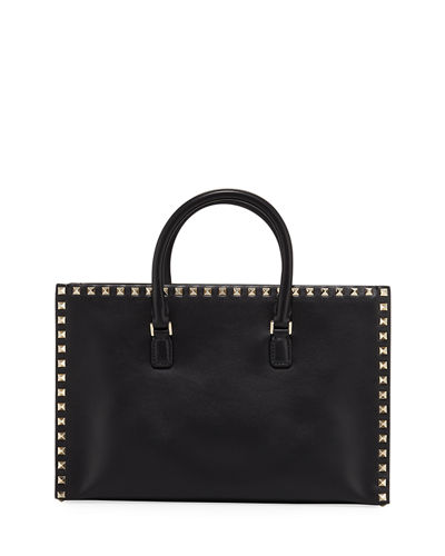 Rockstud Medium Leather Tote Bag