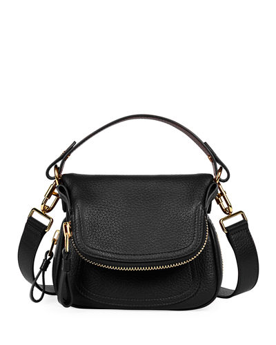 Jennifer Small Grained Leather Shoulder Bag