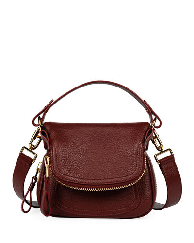 Jennifer Mini Grained Leather Shoulder Bag