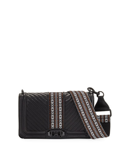 JAQUARD LOVE CROSSBODY WITH
