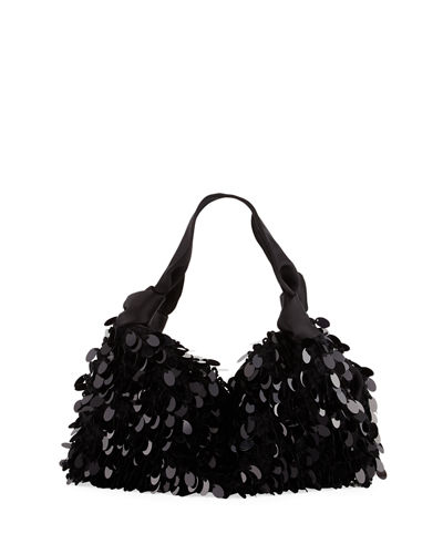The Ascot Medium Sequined Hobo Bag