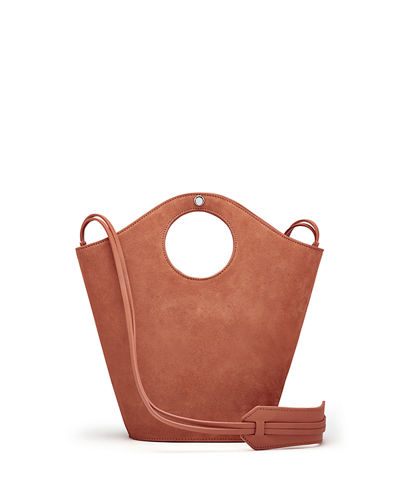 Market Small Suede Shopper Tote Bag