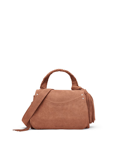 Trapeze Small Tassel Crossbody Bag